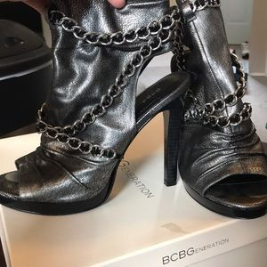 BCBG Black Platform high heels.